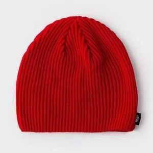 Stussy Classic Ribbed Beanie Red Supreme